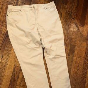 EUC Rafaella straight-leg khaki pants, size 12